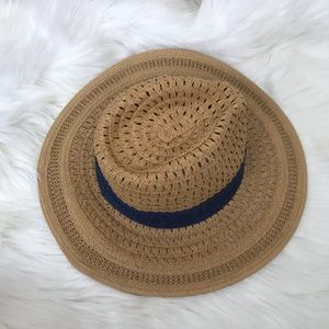 Accessories - {No Brand} Woven Beach Hat w/Navy Band